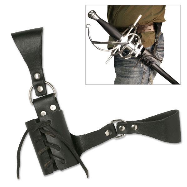 Skórzane mocowanie do miecza