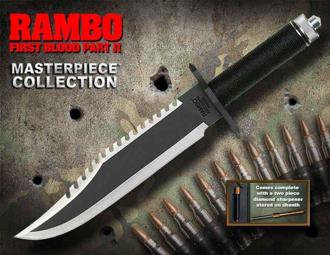 Nóż Rambo II Standard Edition Hollywood Collectibles Group (HCG9294)