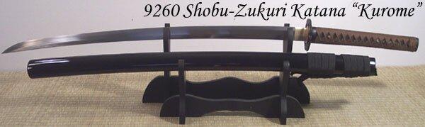Katana Cheness Shobu Zukuri - Kurome 9260 Spring Steel