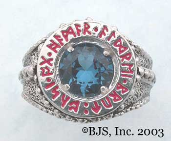 Dwarven Ring of Power - Blue Zircon (DWR-Z)
