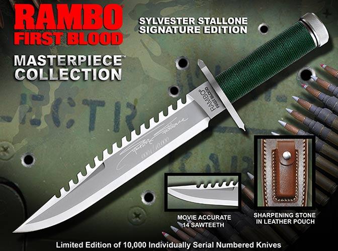 Nóż Rambo I Sylvester Stallone Signature Edition Master Cutlery (MC-RB1SS)