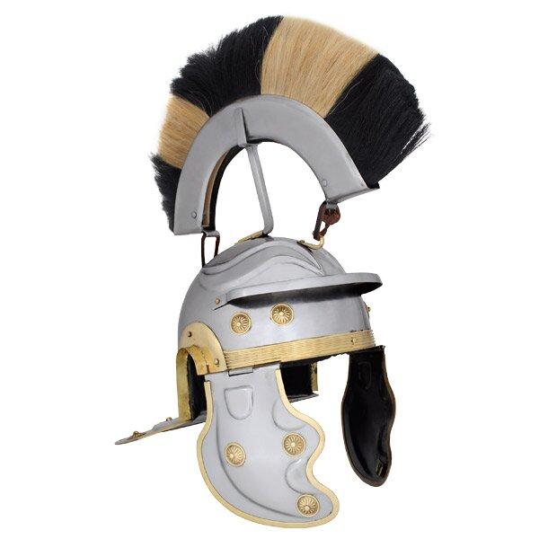 Hełm Rzymski Roman Gallic Helmet, Black and White Crest (HM-1082-P)