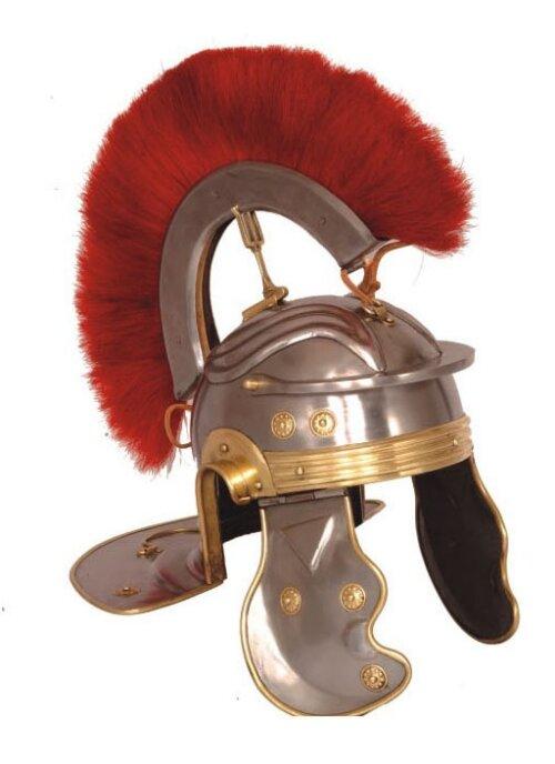 Hełm Rzymski Roman Gallic G Centurion Helmet, Red Crest (HM-1068)