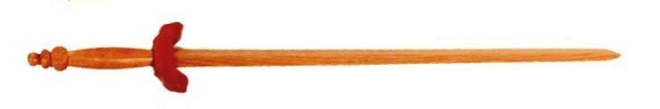 Treningowy miecz do Tai Chi - czerwony dšb (GTTC503)