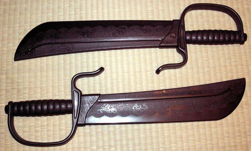 Miecze Motylkowe treningowe z tworzywa Wing Chun (GTTCP461)