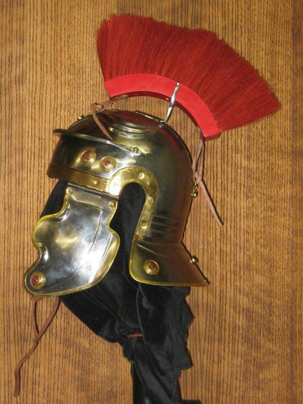 Hełm Rzymski Imperial Gallic H, Red Crest (AER/H/1509-TN)