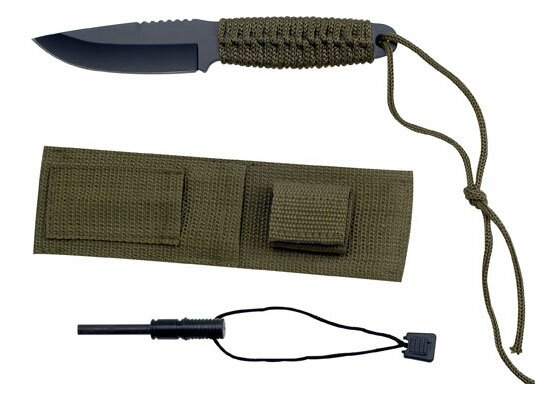 Nóż Master Cutlery Camping Knife with Sheath and Firestarter (HK-106C)