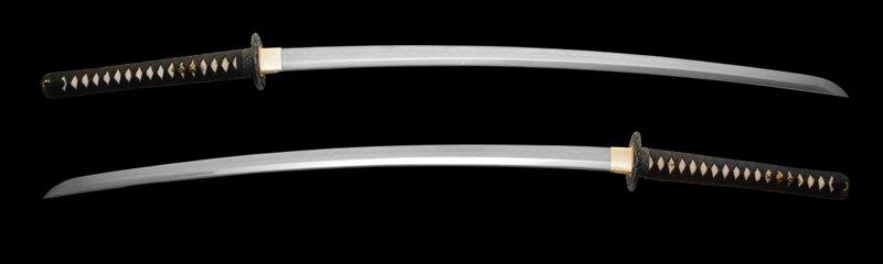 Dynasty Forge 28.5`` Bushi F/F Tri-Steel Katana in Wave Theme