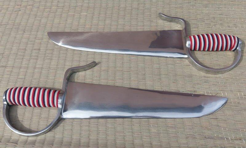 Miecze motylkowe treningowe z aluminium (GTTD461)