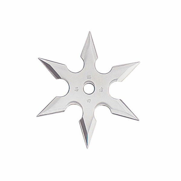 Throwing Star 6Pt SS 2.25`` w/pouch (90-19)
