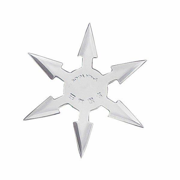 Throwing Star 6 Pt SS 4`` w/pouch (JL-SB3)