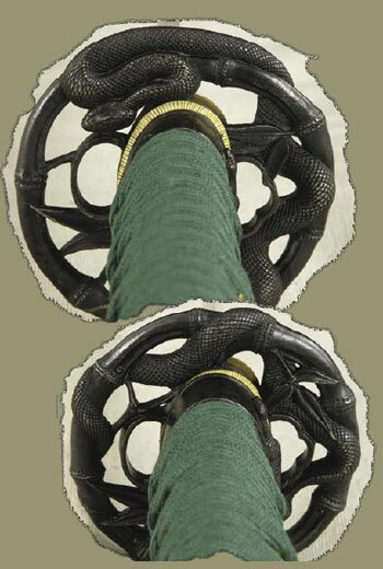Green Bamboo Snake Katana