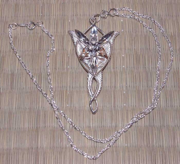 Dodatkowe zdjęcia: Srebrny wisiorek Arweny - LOTR Arwen`s Evenstar Pendant