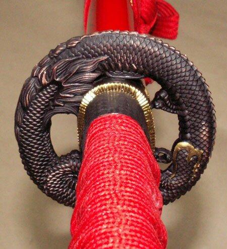 Dodatkowe zdjęcia: Samurai Katana - Dragon Tsuba Red