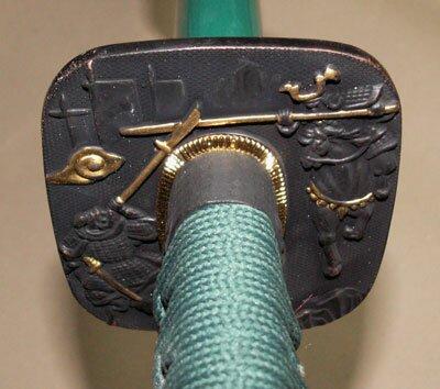 Samurai Katana - Samurai Tsuba Green