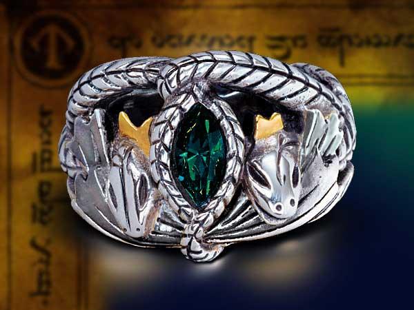 Dodatkowe zdjęcia: LOTR Srebrny Pierścień Aragorna z filmu Władca Pierścieni