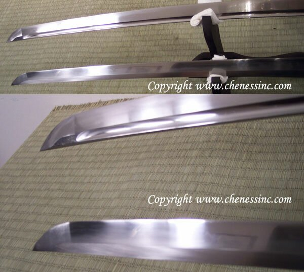 Katana Cheness Tenchi - 9260 Silicon Alloy Spring Steel Blade w Bohi