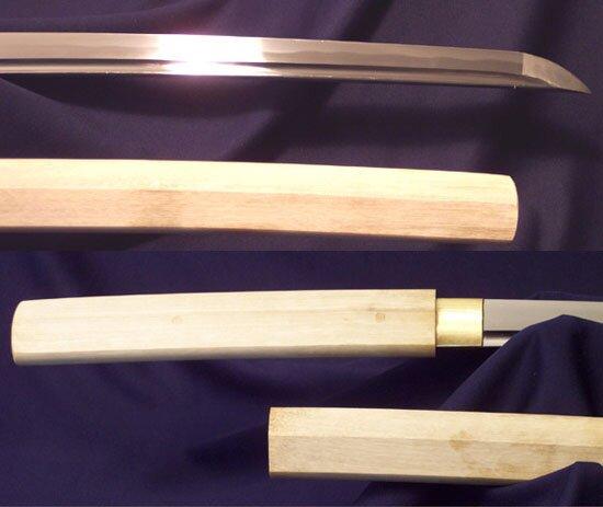 Katana Cheness 9260 Silicon Alloy Spring Steel Blade in Shirasaya