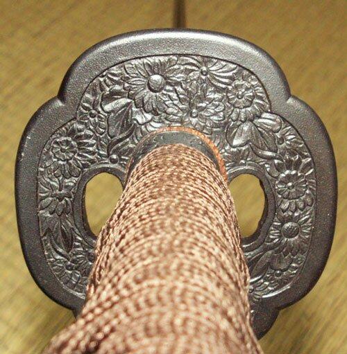 Dynasty Forge 29`` Daimyo 1095 Katana with Bo-Hi in Mokko Cherry Theme
