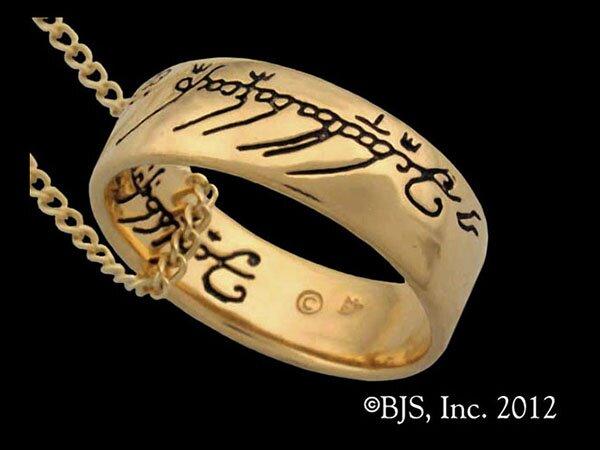 Dodatkowe zdjęcia: Jedyny pierścień LOTR Gollum Gold Necklace Black