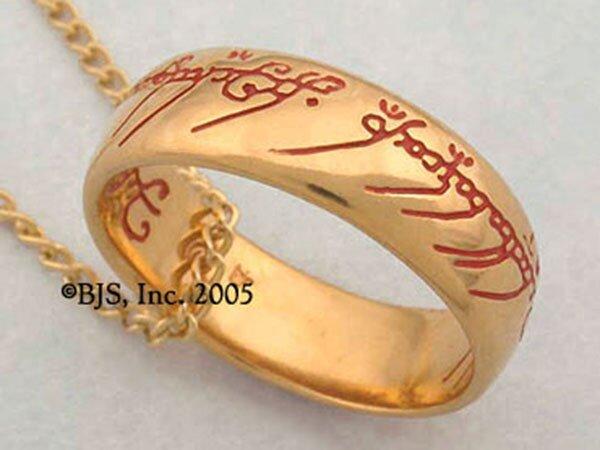 Dodatkowe zdjęcia: Jedyny pierścień LOTR Gollum Gold Necklace Red
