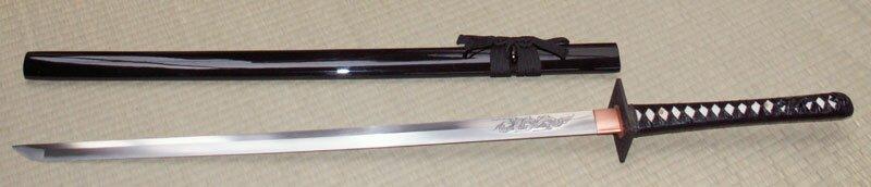 Miecz Ninja - Ten Ryu Hand Forged Ninja Sword Tsunami