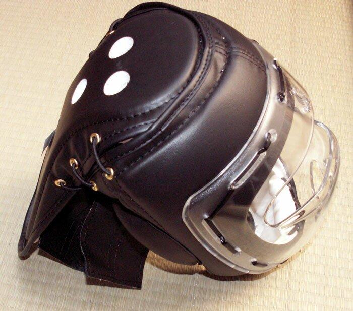 Dodatkowe zdjęcia: Czarny kask z maską - sztuczna skóra