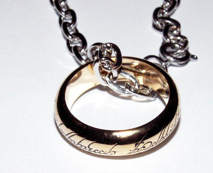 Dodatkowe zdjęcia: Pierścień z filmu Władca Pierścieni LOTR Ring The One Ring (pozłacany)
