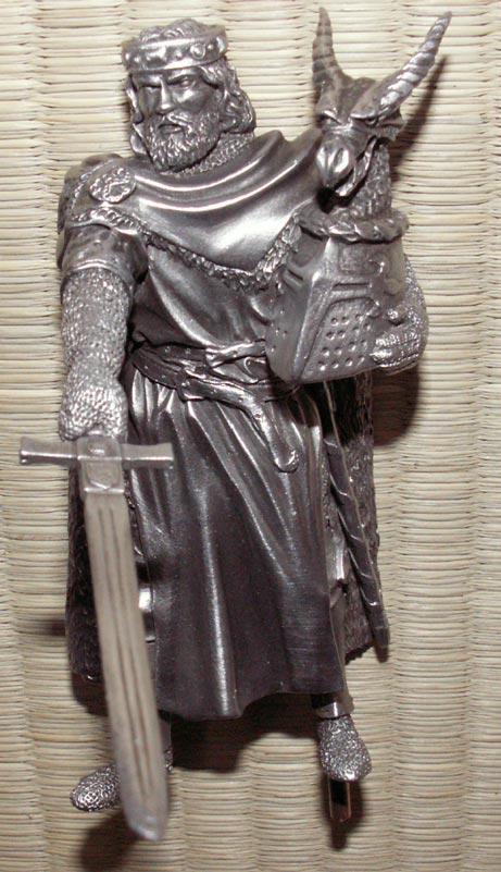 Dodatkowe zdjęcia: Figurka Król Arthur - Rycerze Okrągłego Stołu - Les Etains Du Graal