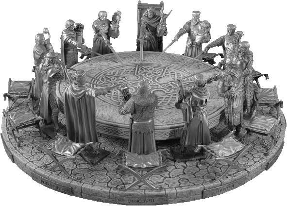 Dodatkowe zdjęcia: Figurka Galahad - Rycerze Okrągłego Stołu - Les Etains Du Graal