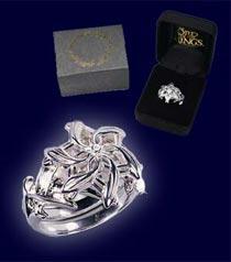 Dodatkowe zdjęcia: LOTR Pierścień Galadrieli - Posrebrzany