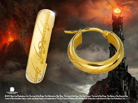 Dodatkowe zdjęcia: Pozłacane kolczyki z filmu Władca Pierścieni