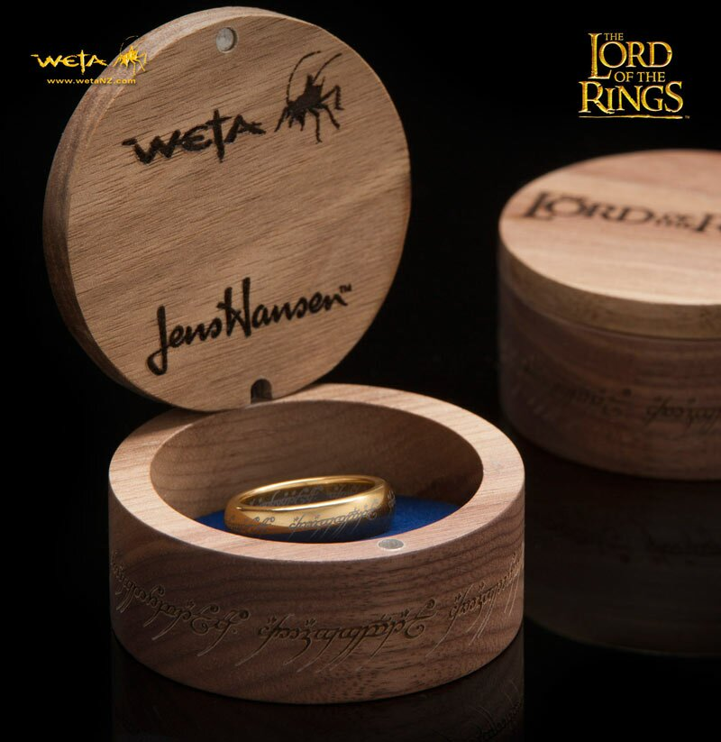 Dodatkowe zdjęcia: The One Ring Gold Plated Tungsten Carbide With Elvish Runes