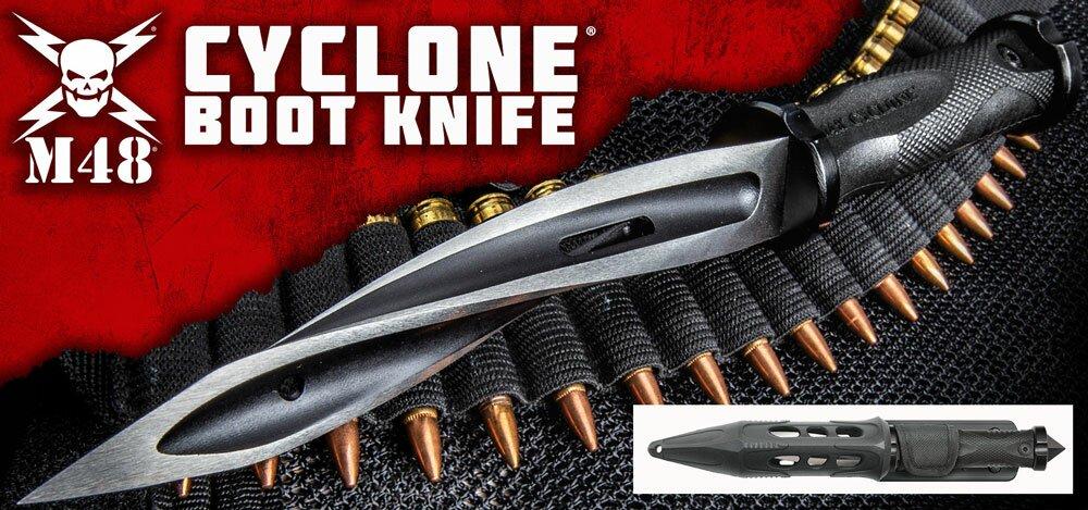 Dodatkowe zdjęcia: Nóż United Cutlery M48 Cyclone Boot Knife With Custom Vortec Sheath