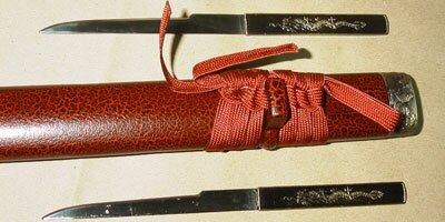 Dodatkowe zdjęcia: Samurai Sword with Mini Tanto - Red