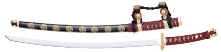 Ceremonial Samurai Sword - Red