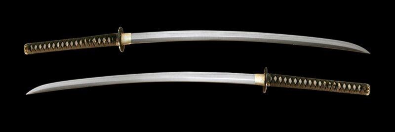 Dynasty Forge 28.5`` Bushi F/F Tri-Steel Shobu Katana in Cherry Blossom Theme