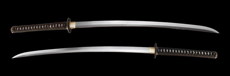 Dynasty Forge 28.5`` Musha 1060 Shobu Katana in Musashi Theme