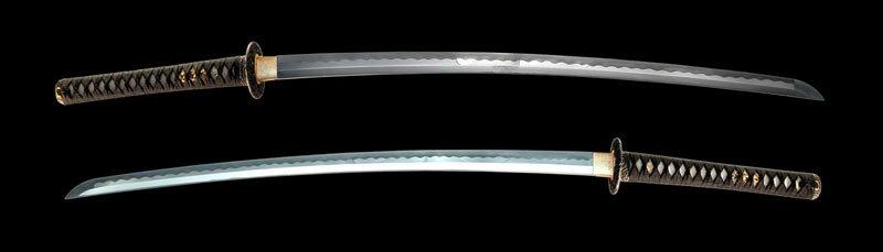 Dynasty Forge 28.75`` Daimyo F/F Tri-Steel Katana in Turbulent Wave Theme