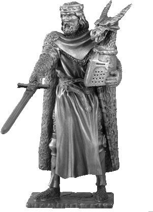 Figurka Król Arthur - Rycerze Okrągłego Stołu - Les Etains Du Graal
