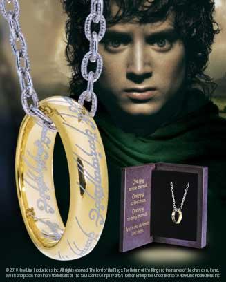 Jedyny Pierścień z filmu Władca Pierścieni
