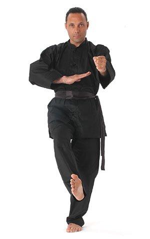 Kimono do Kung Fu Czarne Deluxe