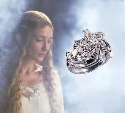 LOTR Pierścień Galadrieli - Posrebrzany