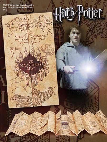 Mapa Huncwotów Harry Potter Replica Marauder Map