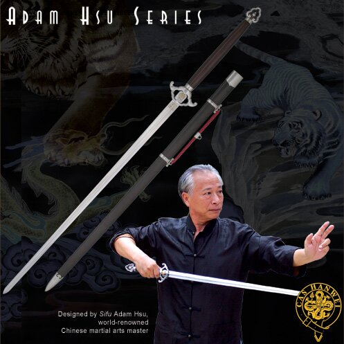 Miecz Hanwei Adam Hsu dwuręczny Jian - Fiberglass Handle 36