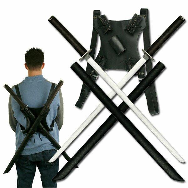 Miecze ninja - Twin Ninja Katana with Back Strap