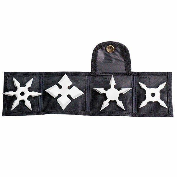 Mini Throwing Star 2.5`` - 4pcs/set w/pouch