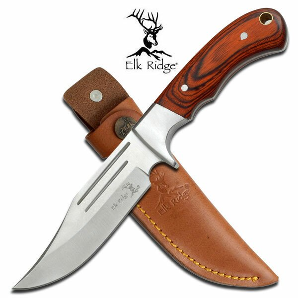 Nóż Elk Ridge Pakkawood Fixed Blade