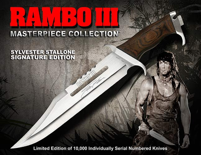 Nóż Rambo III Sylvester Stallone Signature Edition Hollywood Collectibles Group