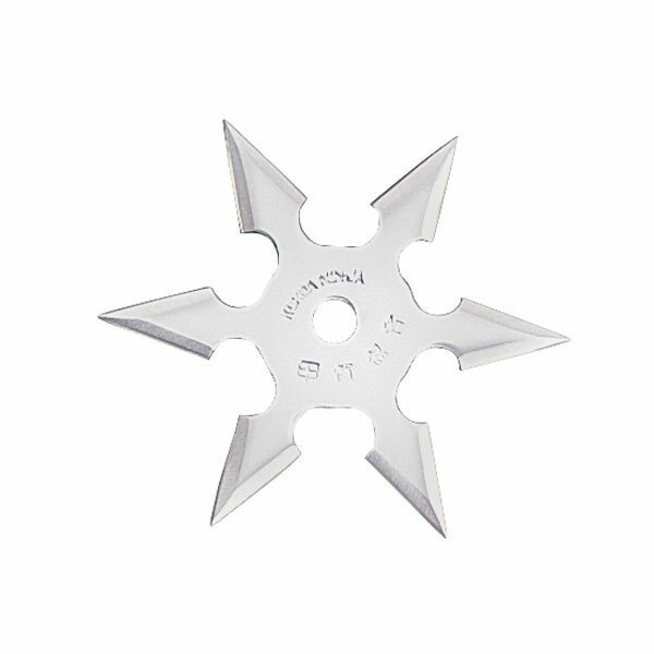 Professional Throwing Star 6Pt SS 4`` w/pouch